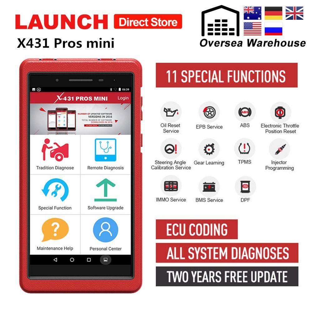 Starten X431 Profis Mini Auto Diagnose Werkzeug Volle System X-431 Pro Profis Mini Auto Scanner ECU Codierung Analysator 2 Jahre freies Update