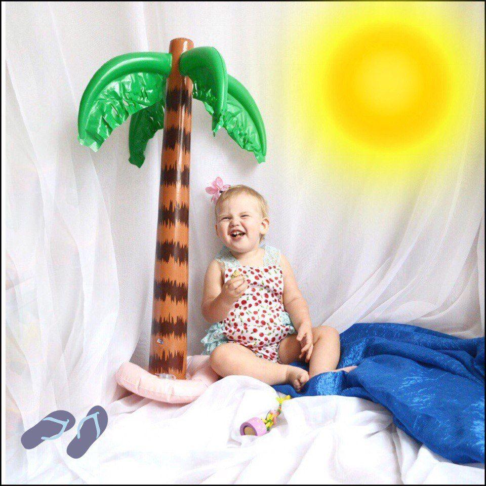 Grand arbre hawaïen gonflable drôle de jouet de Jungle gonflable pour l'arbre de noix de coco pour la décoration de partie de plage d'été hawaïenne