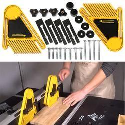 Multi-tujuan Gergaji Meja Featherboards Router Woodworking Alat Set Ganda Pagar Untuk Gergaji Listrik DIY Alat Tukang Kayu