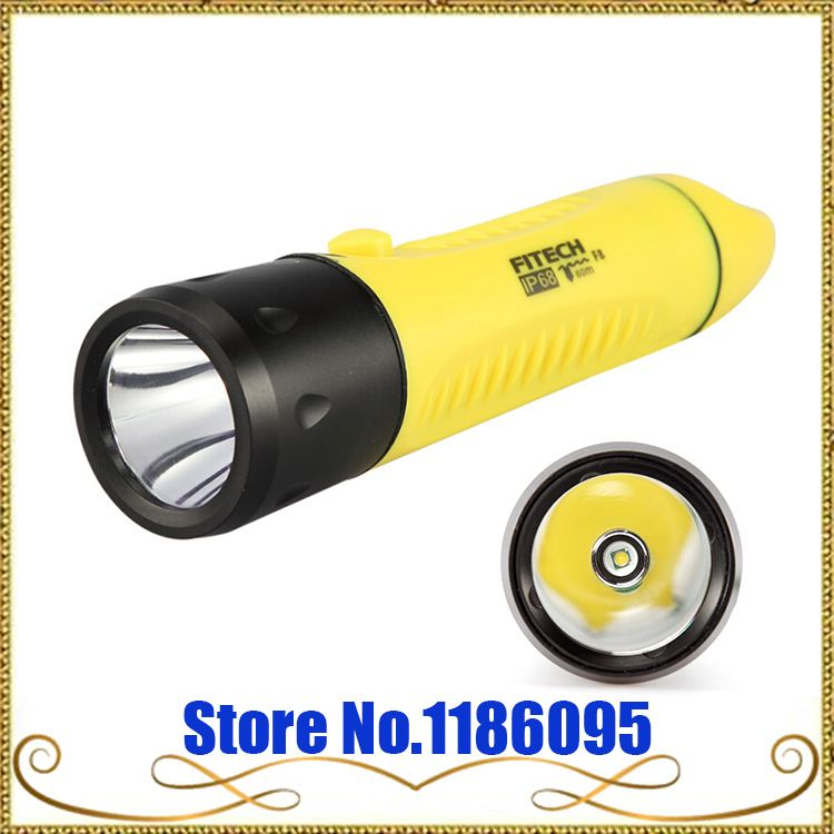New Genuine POP Lite FITECH F8 Charging Professional Diving Long Shots LED1000 Lumens CREE XML T6 LED Flashlight