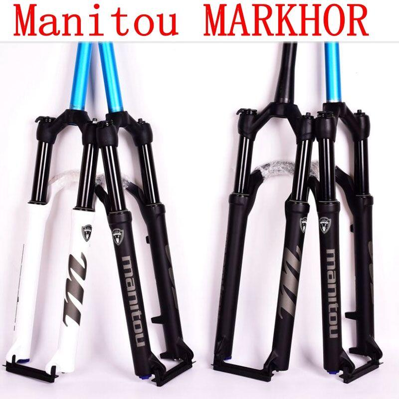 Manitou MARKHOR Bike Fork 26 27.5 29er mountain MTB Bicycle Forks air marvel Pro suspension latest PK to SR SUNTOUR 2018