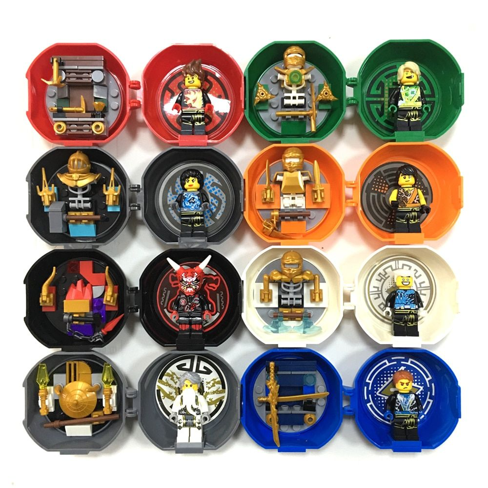 8 minifigues en 1 figurine d'entraînement Ninja Kendo Mini figurines Pack KAI JAY COLE ZANE Lloyd Master Wu blocs de construction jouets enfants