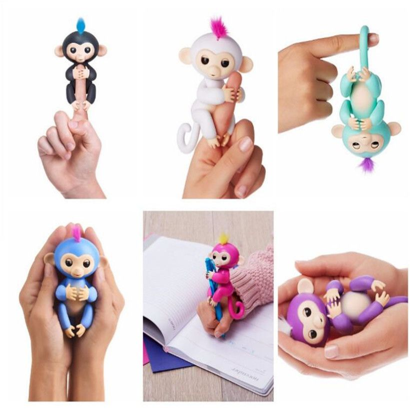 Wowwee High Quality Interactive Baby Monkeys Finger Monkey Smart Induction Toys Electronic Toys Best Christmas Gifts
