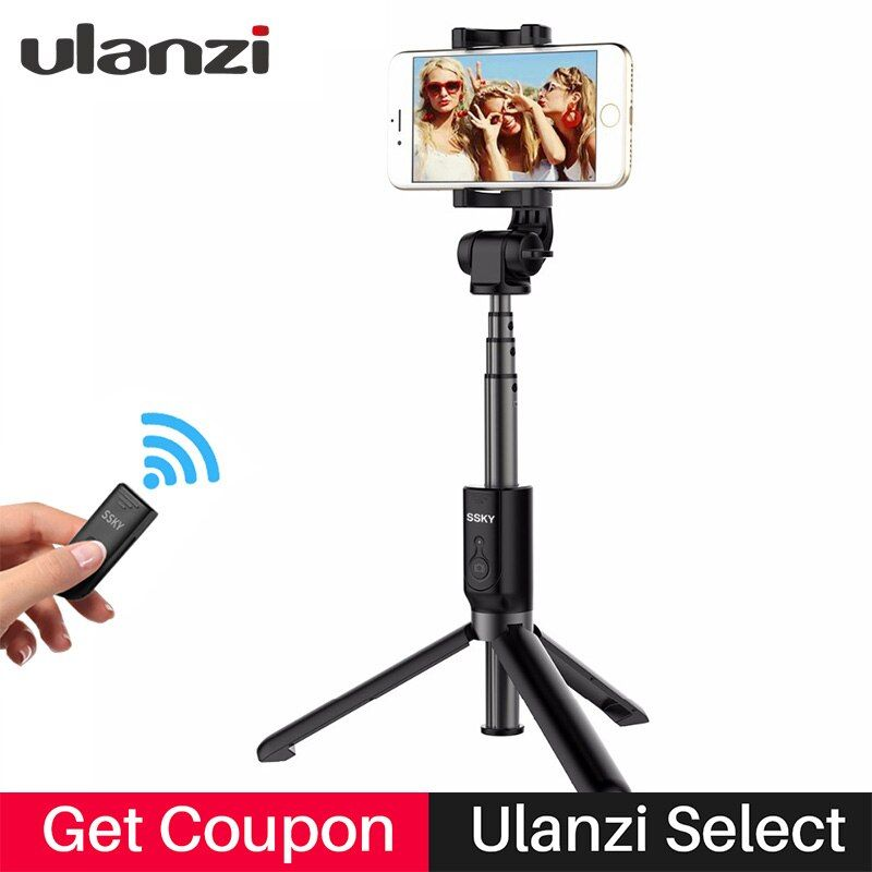 Ulanzi Pocket Tripod Selfie Stick Bluetooth Control Remote 360 Rotation Extendable Monopod tripode for iphone X 8 7plus Android