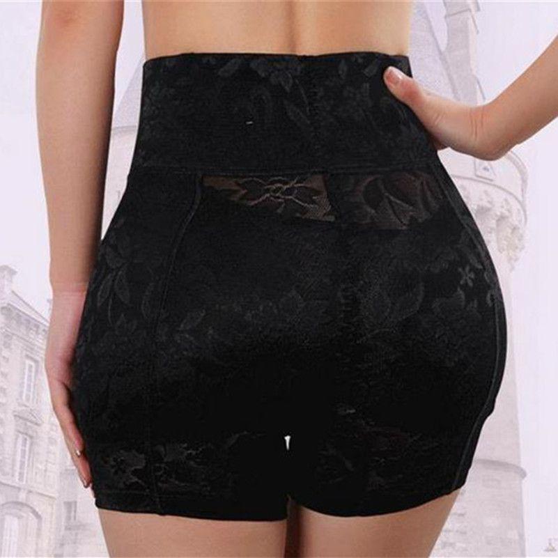 Culotte Sexy pour femmes taille haute porte fesse faux coussinets d'amélioration caleçon abondant faux cul rembourrage sous-vêtements