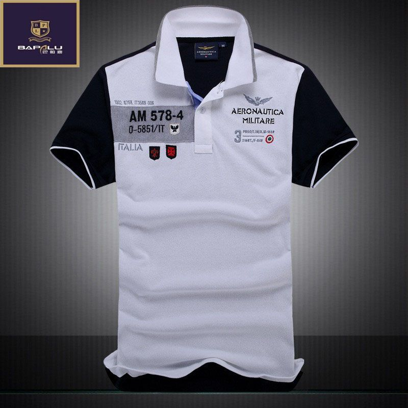2017 sommer neue männer designer Polo Shirt herren Business 100% baumwolle stickerei Polo hemd Air Force One Polo hemd