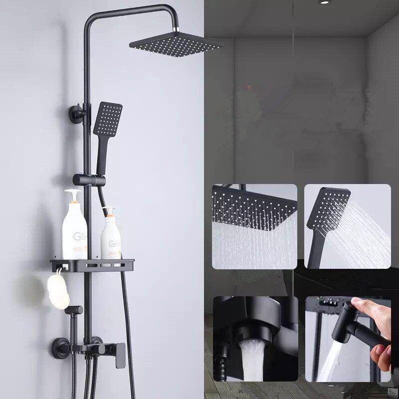 Reines schwarz dusche set mit bidet dusche bad weiß bidet dusche set weiß Badewanne wasserhahn weiß bidet dusche set MJ9888W