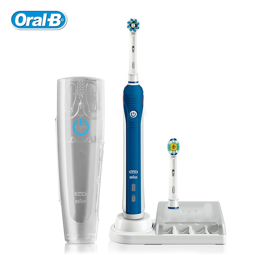 Oral B Ultrasonic Electric Toothbrush 3D Smart Gum Care Tooth Whitening Rechargeable Adult Teeth Brush Waterproof Stain Remove