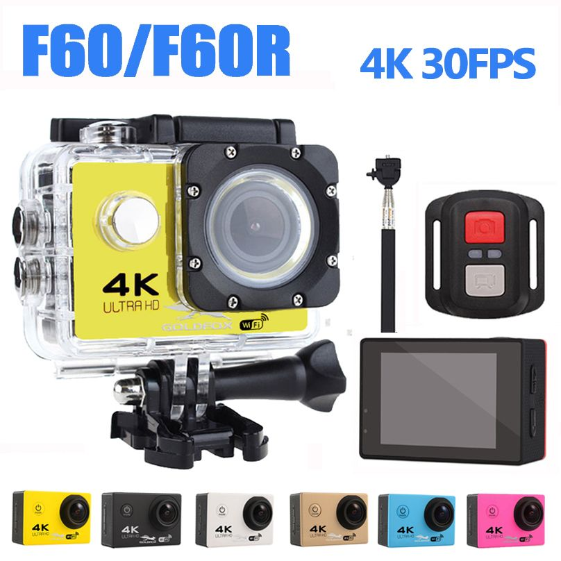 Goldfox H9 Style Ultra-HD 4K Action Camera 170D Wifi Sport Camera 30M Underwater Cam Go Waterproof Pro Bike Helmet Car Cam DVR