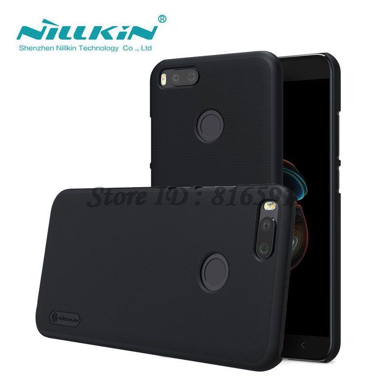 Nillkin Xiaomi Mi A1 Cas Xiaomi Mi 5X Cas Givré Bouclier Dur Retour couverture pour Xiaomi Mi 5X/Mi A1/Mi5X Cadeau Protecteur D'écran