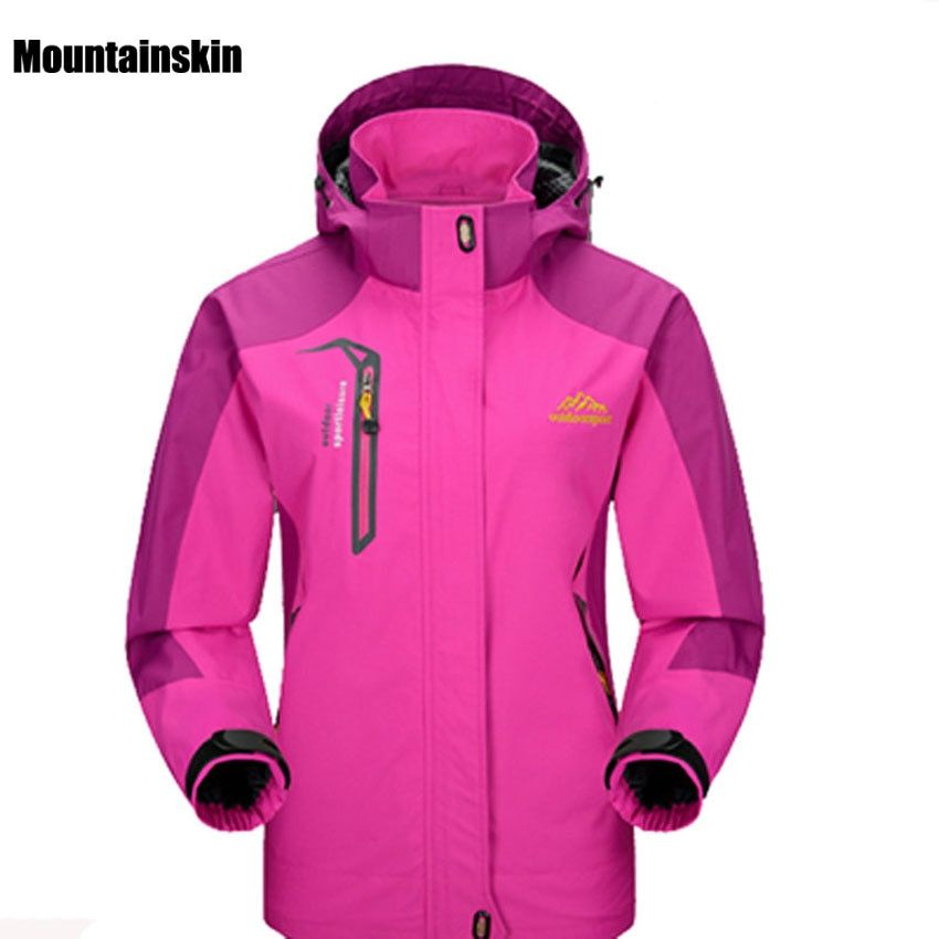 2018 Women Spring Autumn Outdoor Hiking Female Jacket Waterproof Windproof Coat Sports Camping Trekking Climbing Jackets VB002