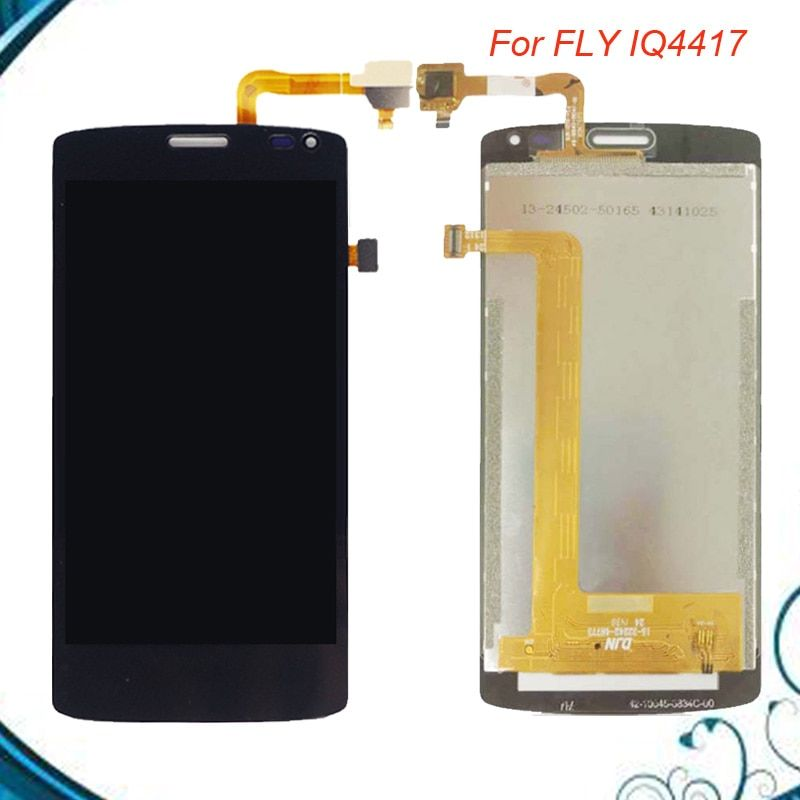 4.5 inch 854*480 Fly IQ 4417 LCD Screen For Fly IQ4417 ERA Energy 3 LCD Display Screen Complete Assembly Free Shipping