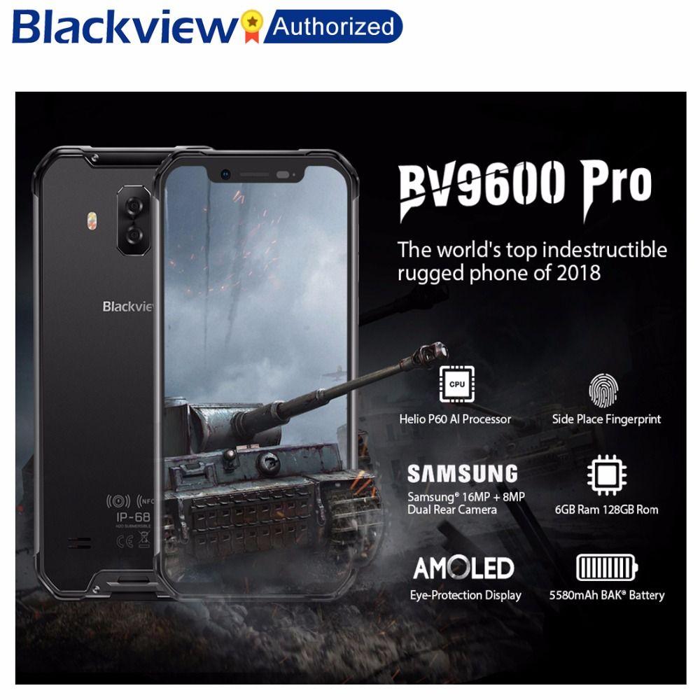 Blackview BV9600 Pro Robuste IP68 Wasserdichte Helio P60 Globale 4G Handy 6,21