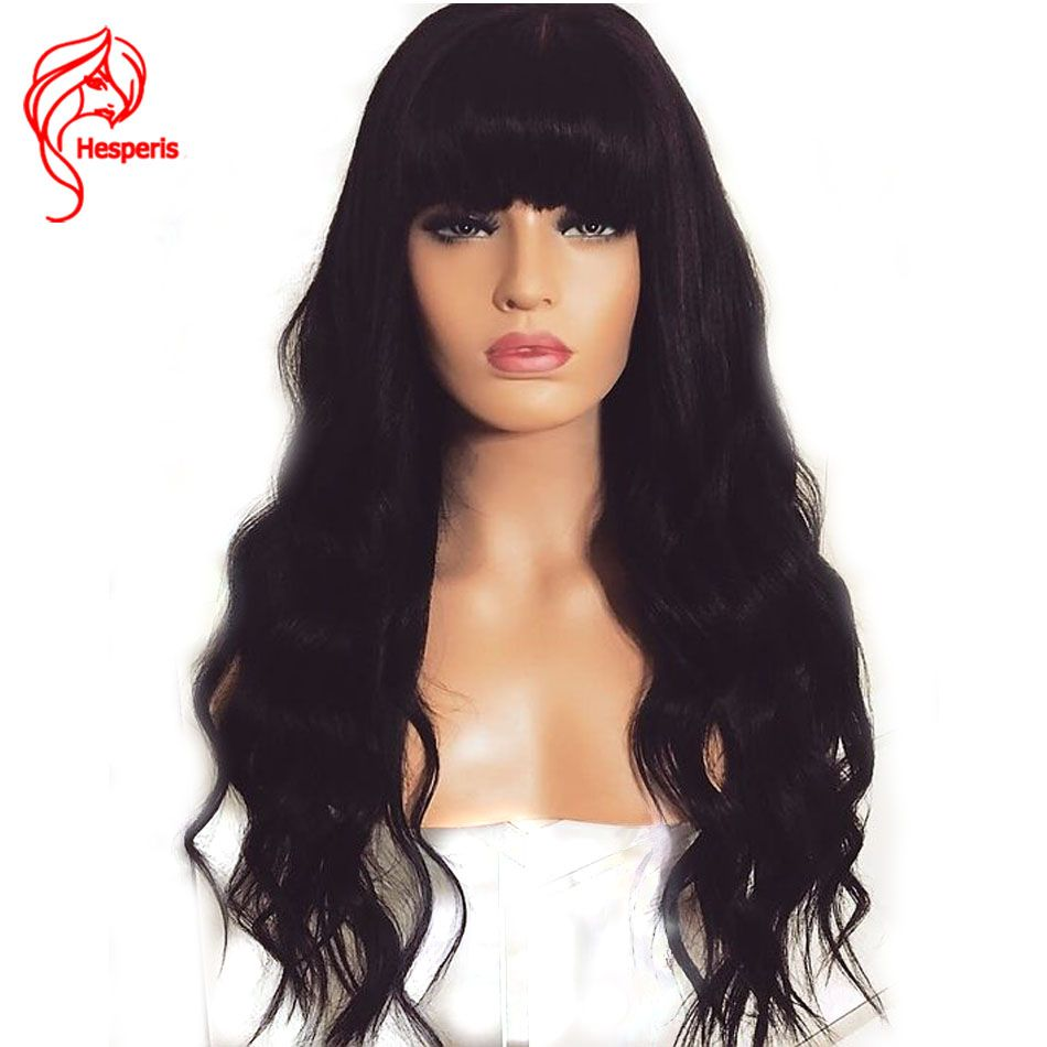 Hesperis 150% Density Loose Wave 13x6 Lace Front Human Hair Wigs With Bang Peruvian Hair Remy Lace Front Wigs With Baby Hair