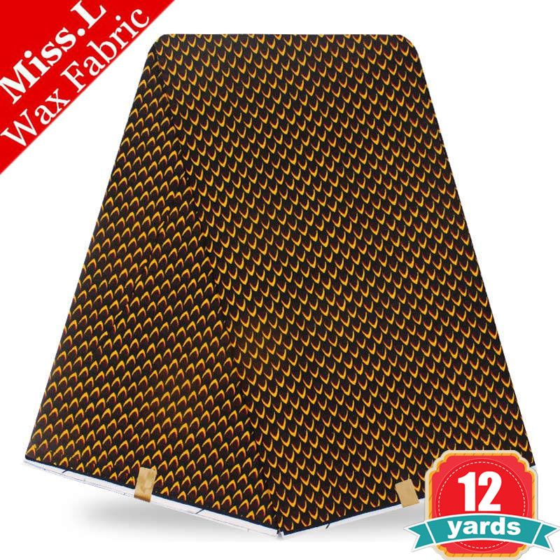 New! Super wax hollandais fabric 12 yards veritable dutch wax block prints 100% cotton for patchwork sewing