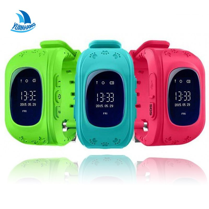 Smart <font><b>Safe</b></font> GPS LBS Tracker Location Finder SOS Call Anti-Lost Remote Monitor Watch Wristwatch for Kids Baby Student Q50 pk Q90