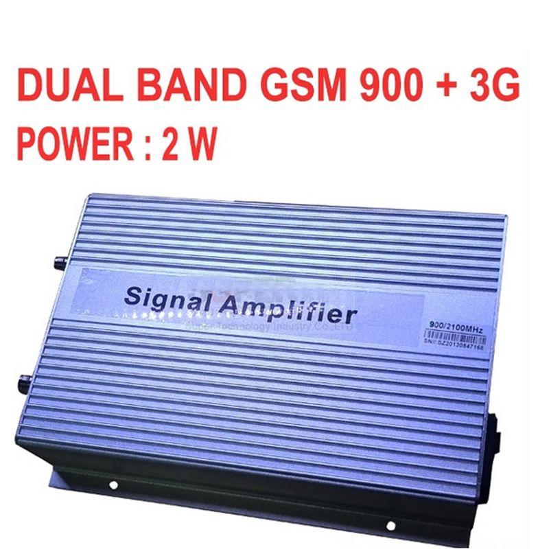 High gain 3000sq meter 2 Watt GSM 900 3G 2100 MHZ DUAL BANDS BOOSTER GSM + 3G repeater, 3G booster, WCDMA repeater 3G SIGNAL booster