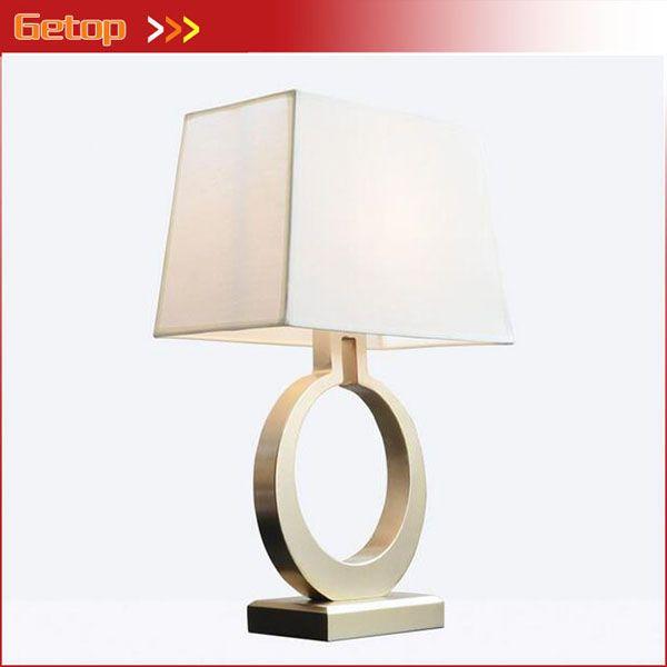 Amerikanischen Kreative Gold Eisen Schreibtischlampe Nordic Einfache Retro Schlafzimmer Nacht Lliving raum Studie Zimmer tischlampe tuch