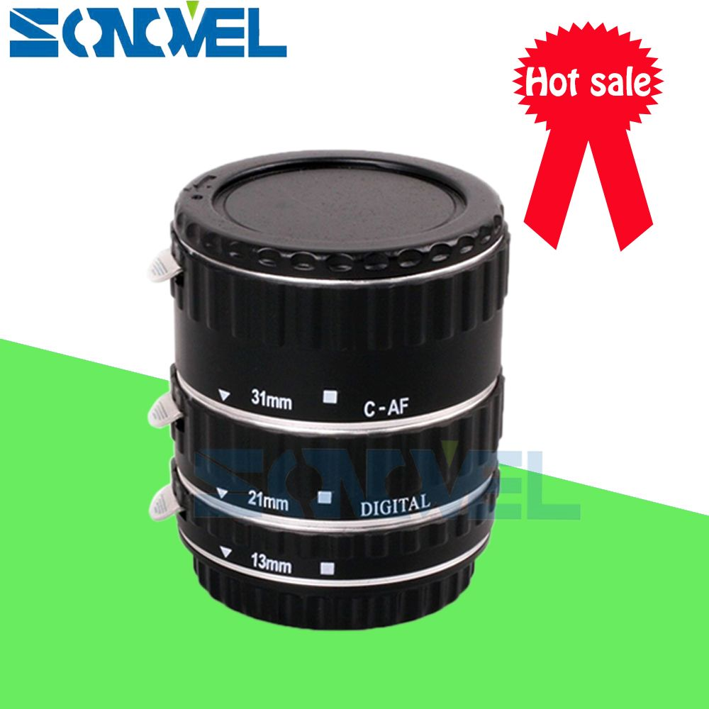Silver Metal TTL Auto Focus AF Macro Extension Tube Ring for Canon EOS EF EF-S 1300D 800D 200D 80D 77D 70D 7D 6D 5D Mark IV 5Ds