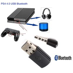 Binmer Fresh Version Bluetooth Dongle PS4 Latest Version Bluetooth Dongle PS4 4.0 USB Adapter for PS4 Any Bluetooth Headsets