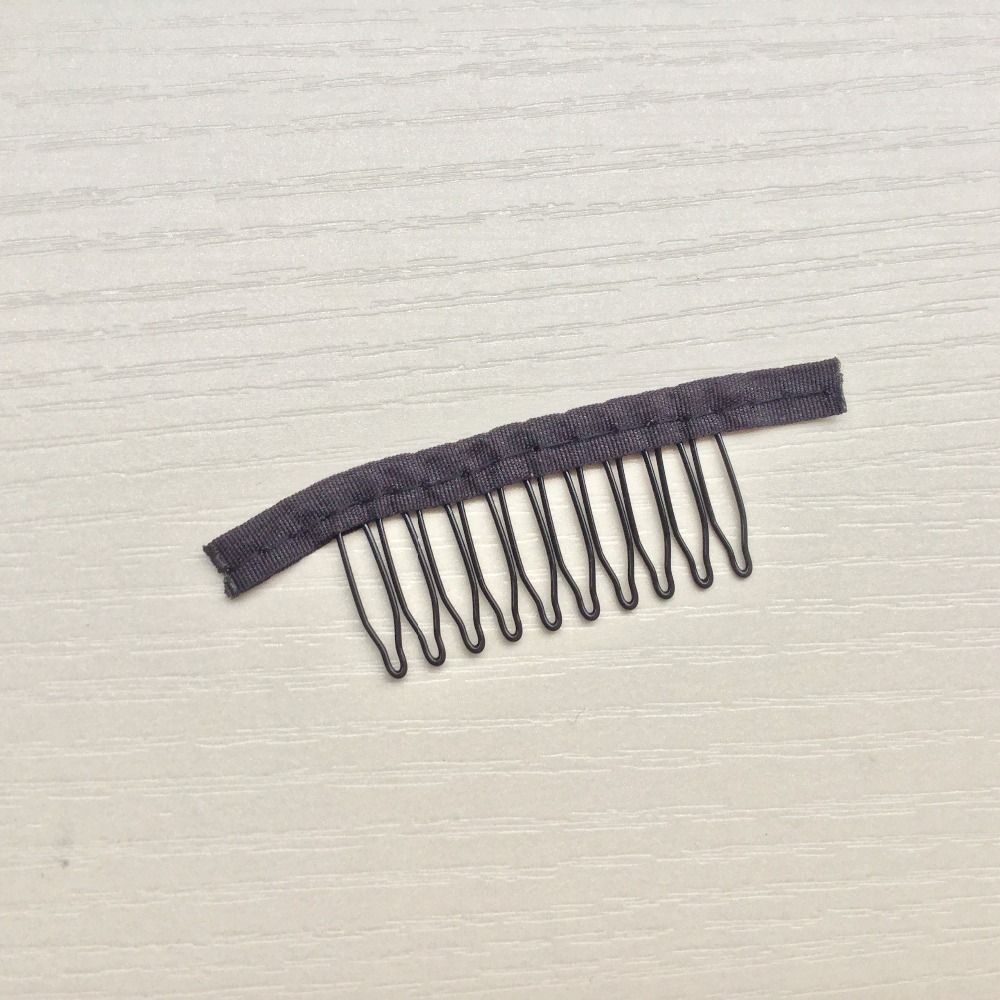 Wig Accessories,Hair Wig Cap Combs and Clips For Wig Cap,Black,Small size,10 teeth,30pcs/Lot,Free shipping