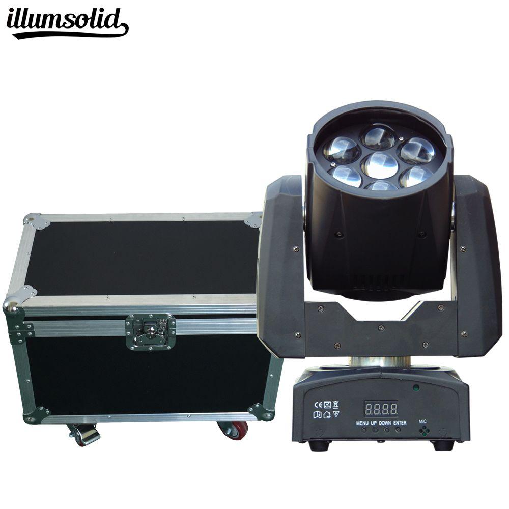 2pcs/lot Flight Case Packed High brightness 7X12W LED ZOOM Moving Head Light 7x12W LED wash dj disco lighting
