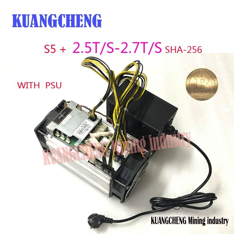 KUANGCHENG Mining BITMAIN S5 + (WITH SPU ) Antminer S5+ 2.5TH Asic Miner 2500GH Super Btc Miner Better s5 s4 s3 s1 USB miner