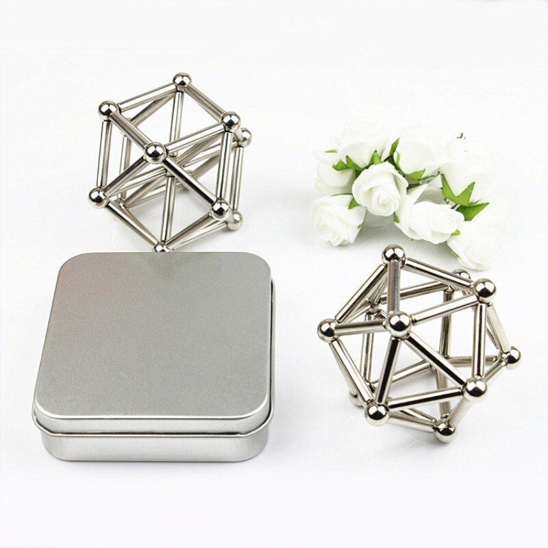 27PCS Steel Balls With 36PCS Magnetic Sticks Neodymium Puzzle Magic <font><b>Cube</b></font> Balls Toy for Geometric