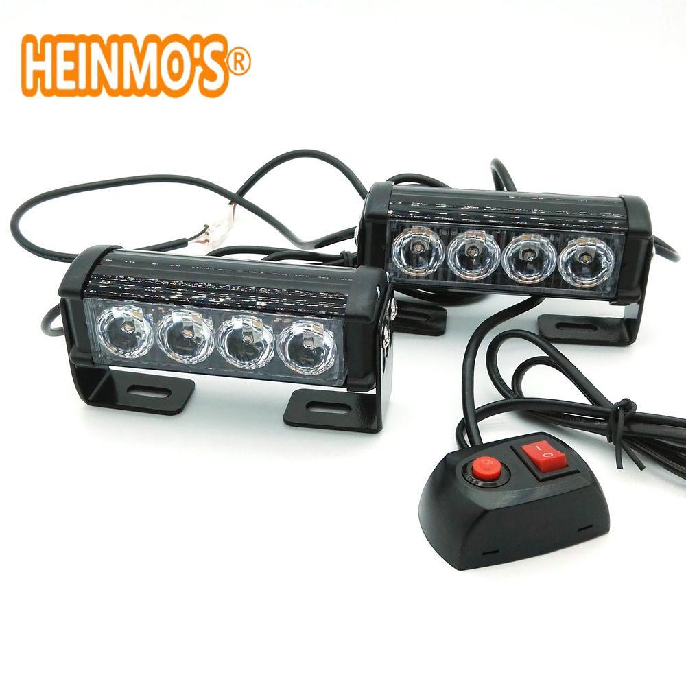 2*4 LED en alliage d'aluminium LED flash lampe sans fente lampe bâton lampe haute puissance toit lumières voiture camion LED lumière stroboscopique