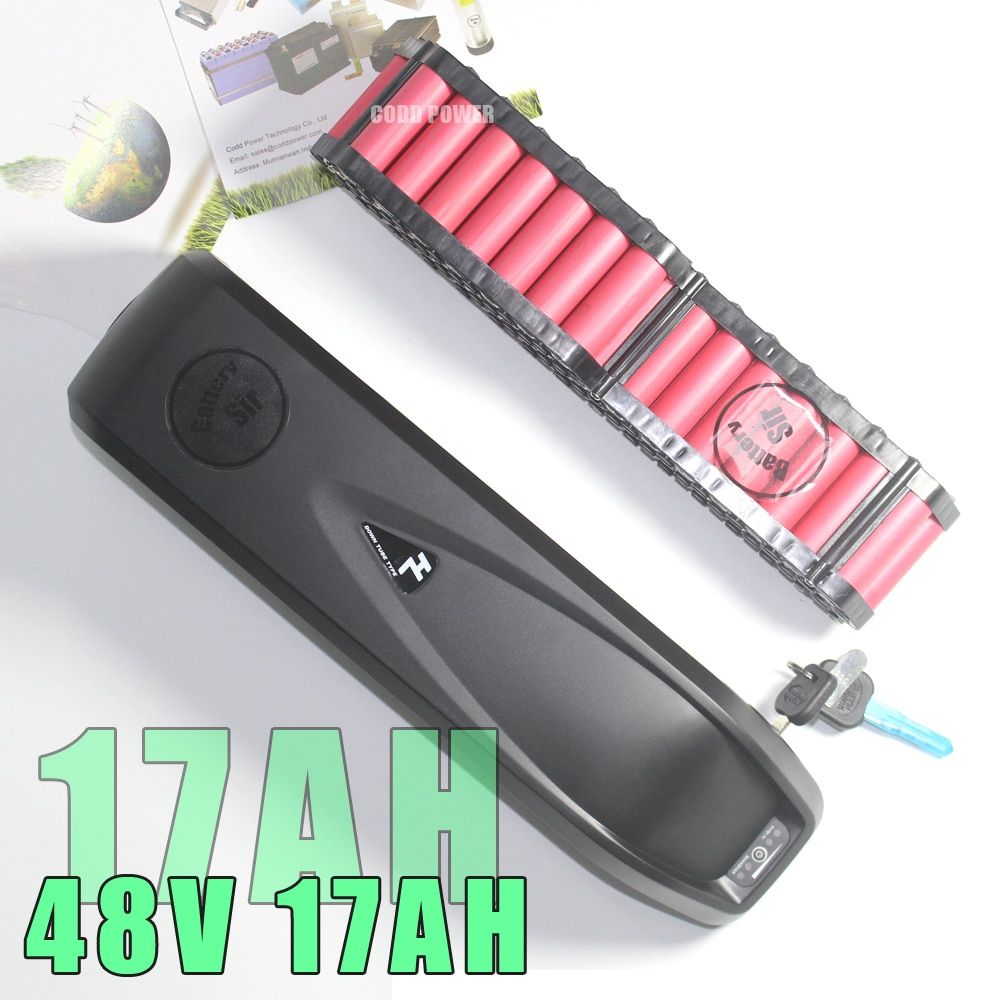 48V 17AH E Bike Battery Hailong EBike with 30A BMS for 750W BBS02 1000W BBSHD Bafang Bicycle Motor