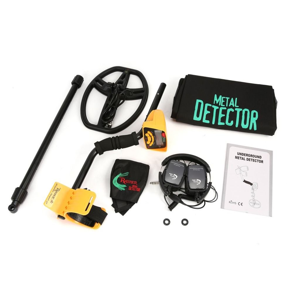 MD6350 Professional Underground Metal Detector Handheld Treasure Hunter Gold Digger Finder With Headphone LCD Display