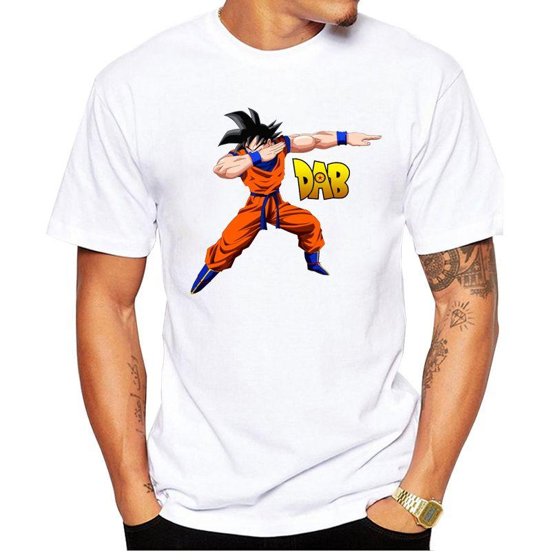 Nouvelle mode impression Cool Dabbing Super Saiyan T-Shirt été à la mode hommes Hip Hop à manches courtes drôle Dragon Ball Z Goku/végéta