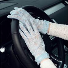 SW gants de protection solaire pour les femmes d'été équitation batterie gants de voiture pour les femmes d'été respirant des gants de conduite courts pour crème solaire