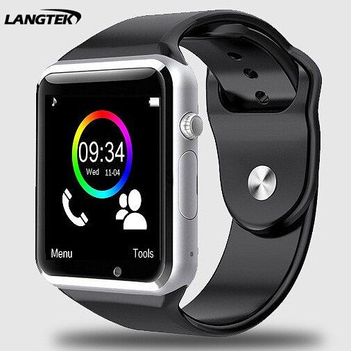 Langtek Bluetooth Smart часы A3 спортивные наручные часы для Android телефон с Камера Поддержка sim-карта TF умный Браслет