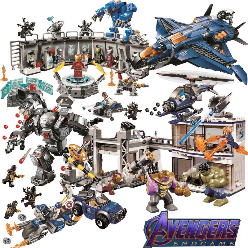 Avengers 4 legoings marvel avenger endgame figures 2 Super Heroes End Game Iron Man Thanos Spiderman Batman Building Blocks Toys