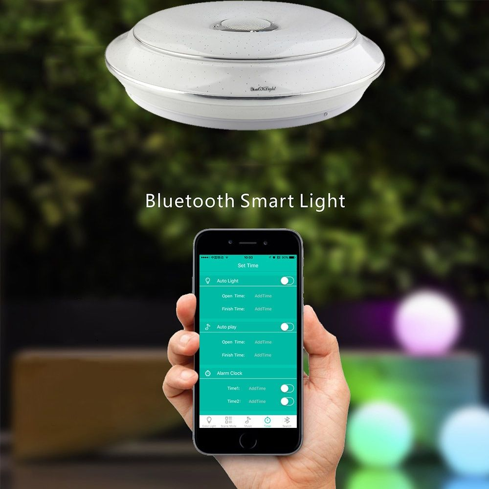 Youoklight 1PCS 36W 110-220V Led Ceiling Lamp Multicolor Bluetooth Music App Control