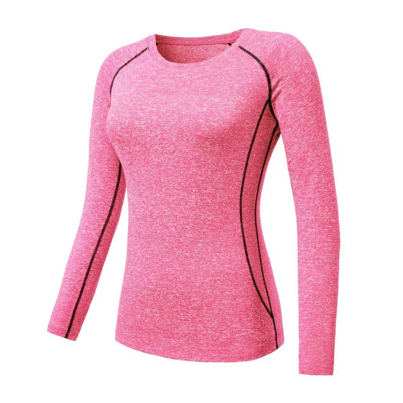 Women Quick-Dry Compression Long Sleeve Sports T-Shirt Gym Yoga Running Tops Tee