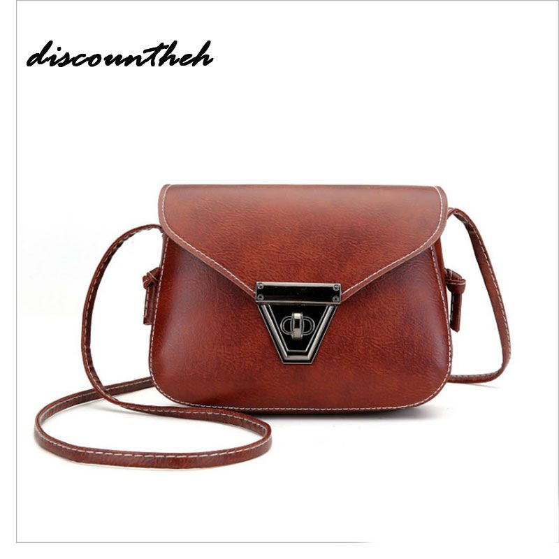 11 Colors Retro Women Messenger Bags Small Female Shoulder Bags Luxury Top-handle Bag Leisure Mini Leather Bolsos Flap