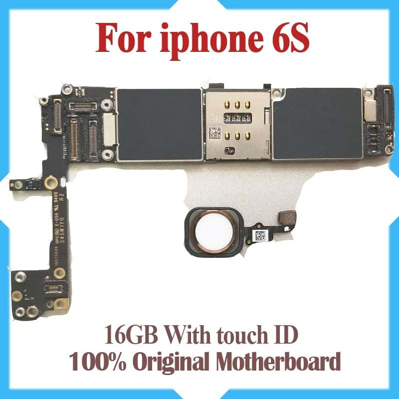 100% Original Unlocked,16gb 64gb 6S Mainboard with Touch ID,for iphone 6S Motherboard with Fingerprint Identification