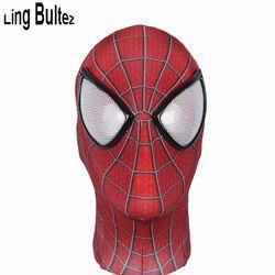 Ling Bultez Kualitas Tinggi Baru Spiderman Masker dengan Lensa Menakjubkan Spider Man Masker Wajah