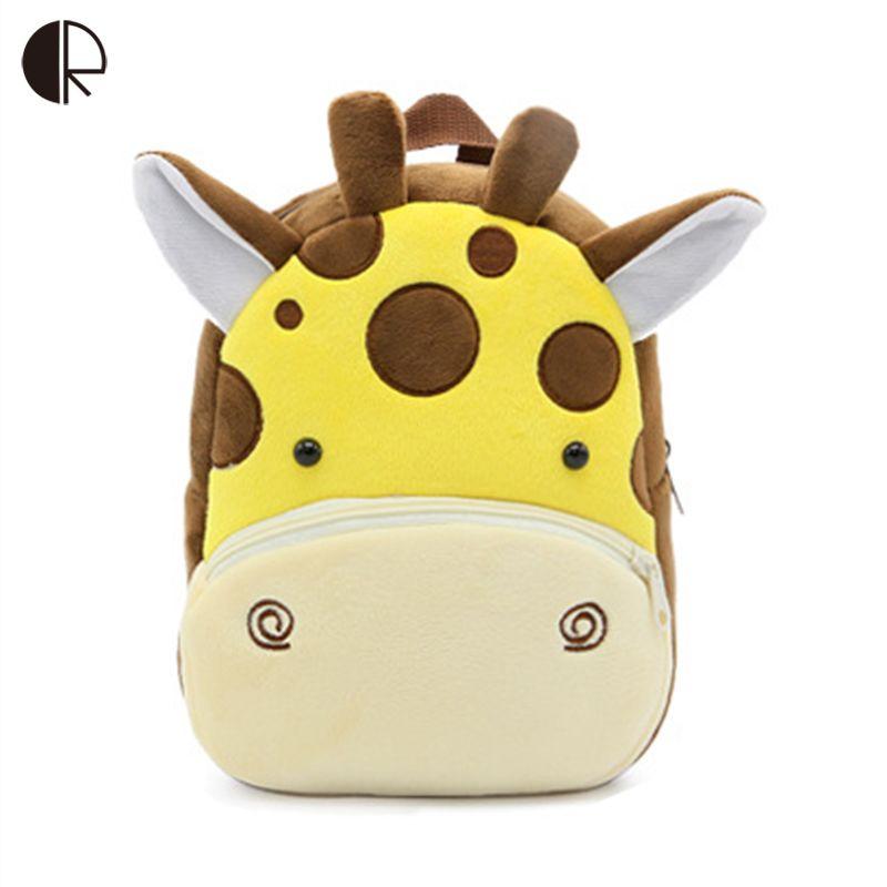 Animal Zoo Plush Backpack for Kindergarten Girls and Boys Cartoon Backpack Children Animal Plush Toys Bag Infantes Mochila