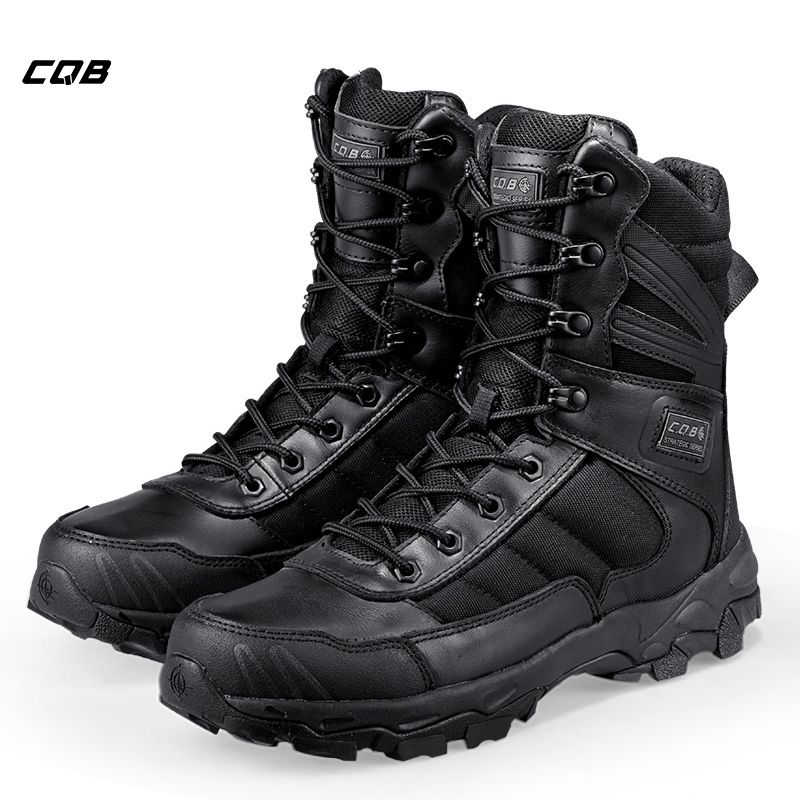 CQB Outdoor Sports Climbing Tactical Military Men Boots Lightweight Shoes for Camping Hiking with Rubber Wear-resistant