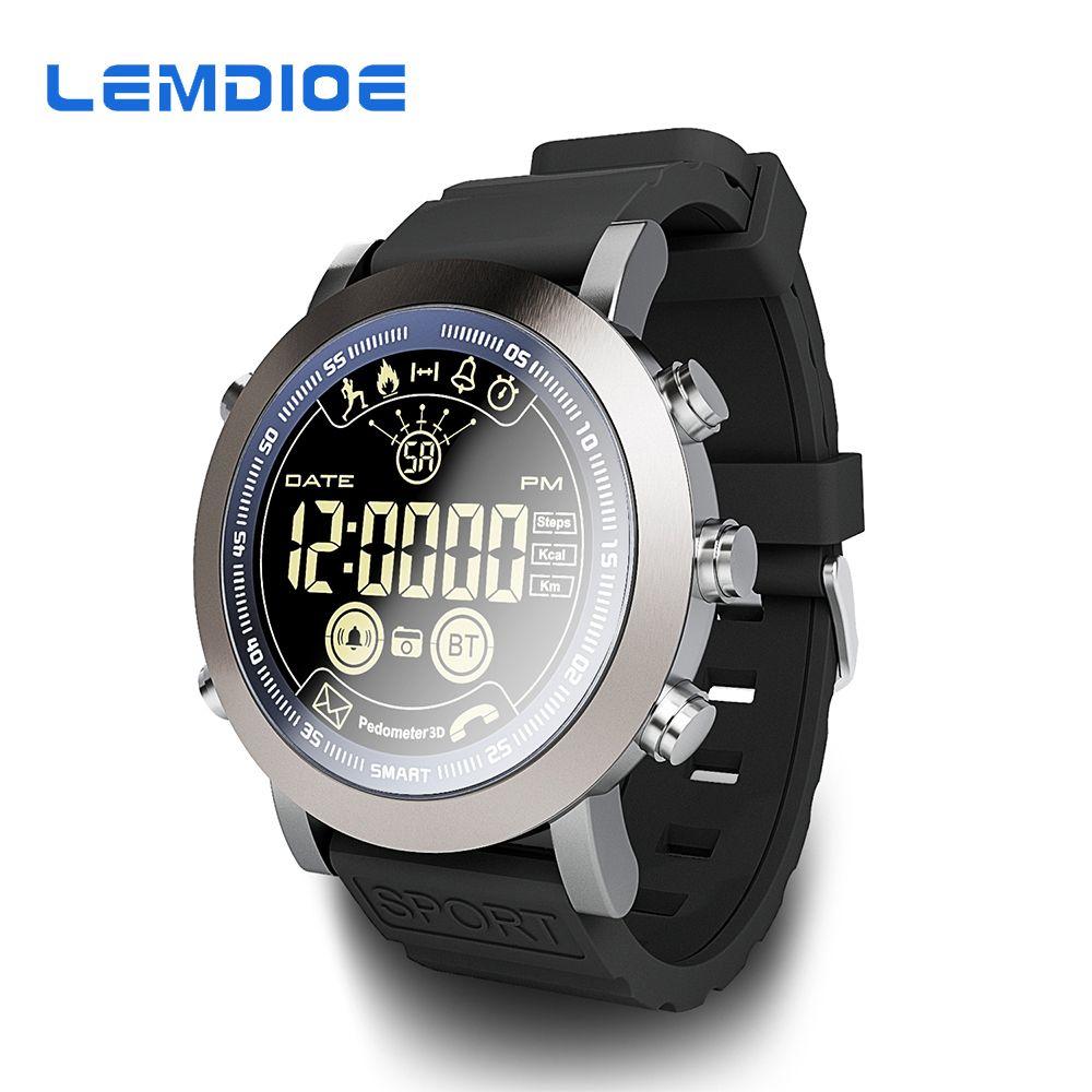 LEMDIOE Smart Watch LF23 Men Sport IP68 Professional Waterproof 610Mah Battery 33-Months Long Time Standby Vintage Smartwatch