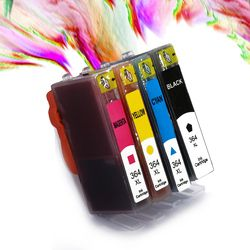 Qinde Hot 364XL Ink Cartridge Replacement for HP 364 xl cartridges for Deskjet 3070A 5510 6510 B209a C510a C309a Printer