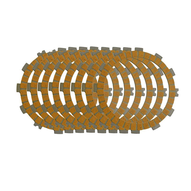 Motorcycle Clutch Friction Plates Kit  Set for KAWASAKI KXF250  KXF 250 2008-2010  Paper-based Clutch Disc 8 PCS #CP-0003