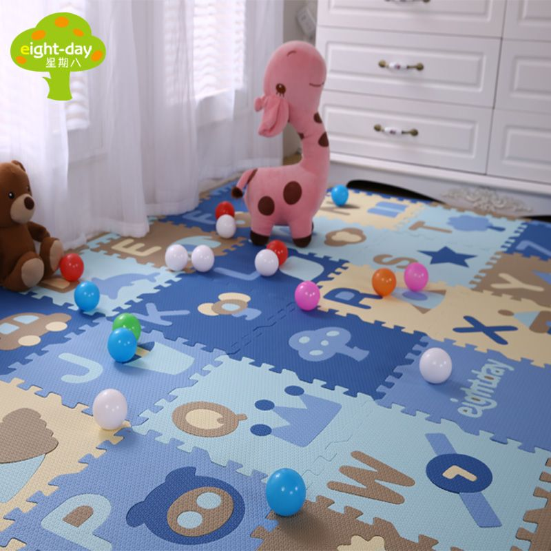 Baby Puzzle PE Foam Alphabt Mat Children Crawling Play Mat Kids Game Kindergarten Mats Gym Soft Floor Game Carpet 28 pcs 30x30cm