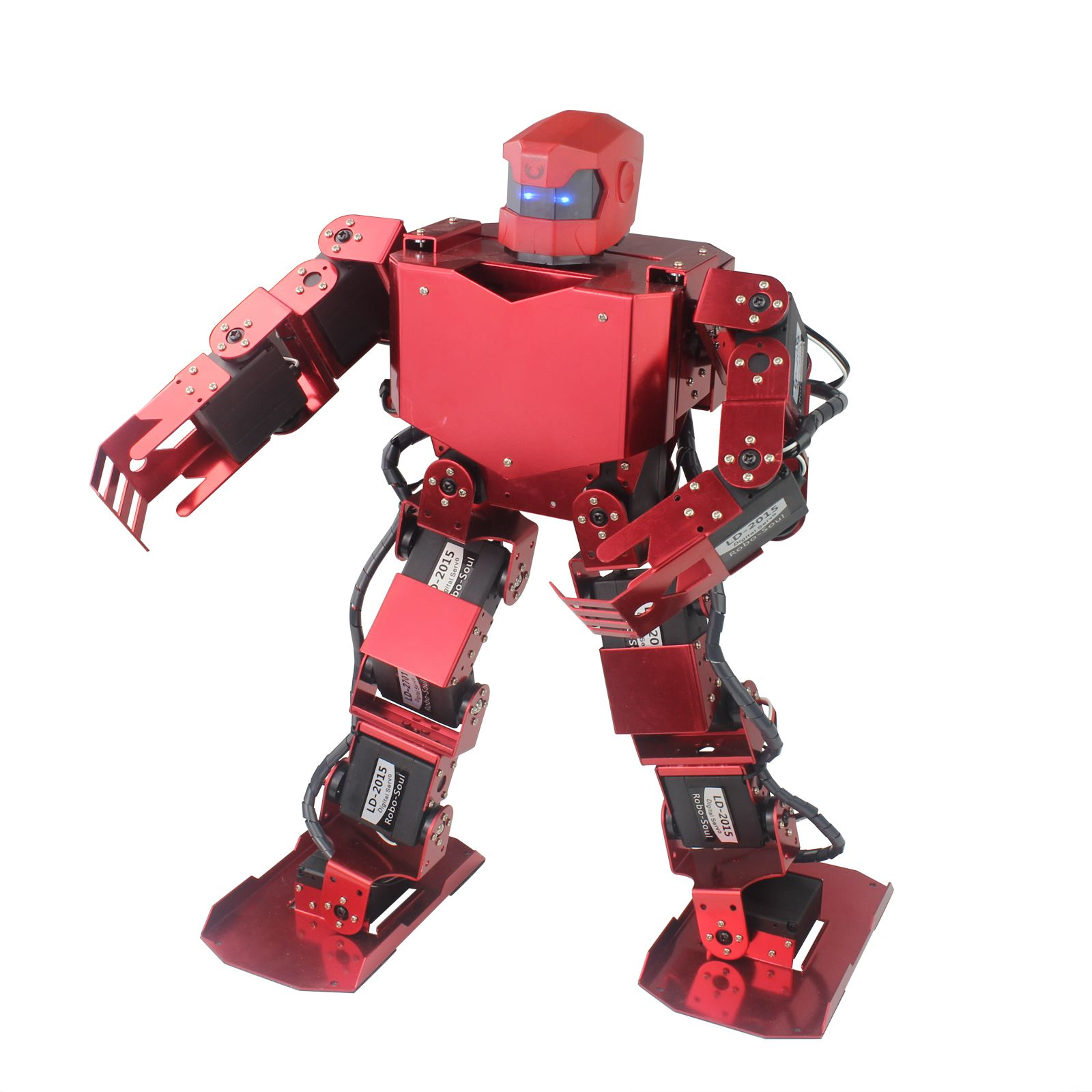 16DOF Robo-Soul H3s Biped Robotics Two Leg Human Robot Aluminum Frame Kit with Servos & Helmet Unassembled olly white or red