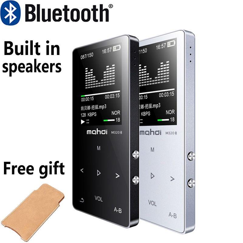 Металл Bluetooth MP3 плеера встроенный Колонки Портативный цифровой аудиоплеер с fm Радио голос Регистраторы E-Book