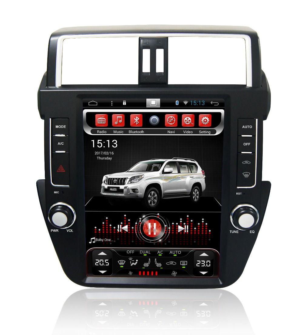 Navirider Android 7.1 radio tape recorder 4-Core 2GB RAM 32GB rom tesla vertical screen for Toyota Prado 2017 auto head units