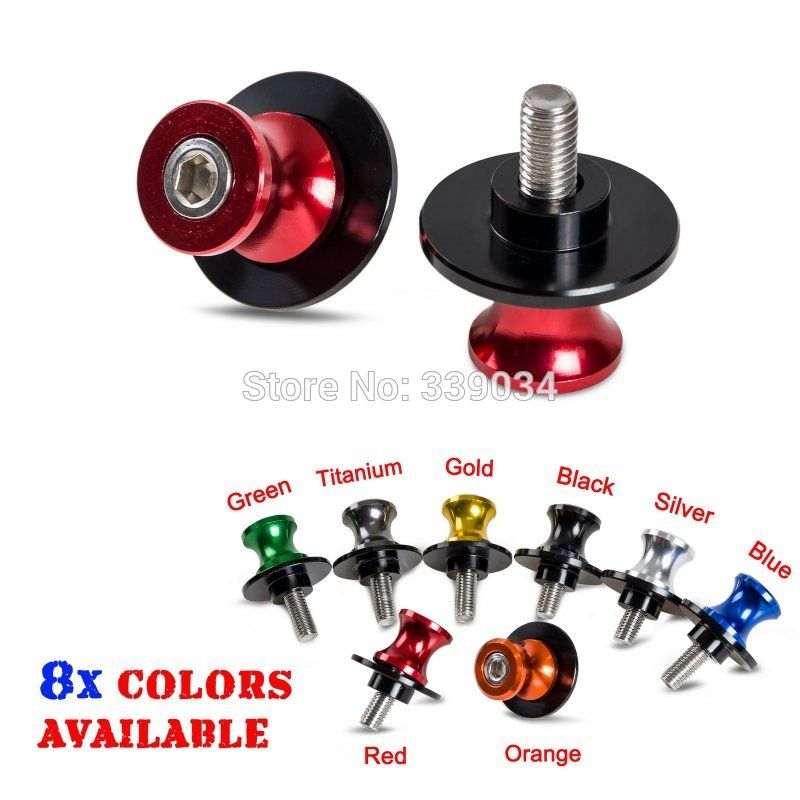 Motorcycle Stands Screws 8mm Swingarm Spools Slider For Suzuki GSR750 GSX 1300 GSXR1000 GSXR1300 Hayabusa GSXR 600 750